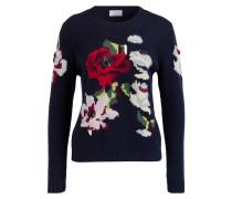 Cashmere-Pullover - navy/ grün/ rot