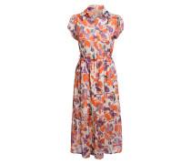 Hemdblusenkleid mit Glitzergarn