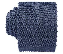 Strickkrawatte - blau