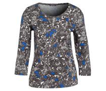 Jersey-Shirt - grau/ blau