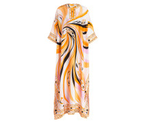 Kaftan aus Seide - rosé/ orange
