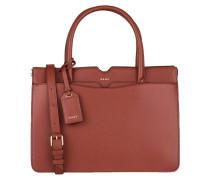 Saffiano-Handtasche - rostrot