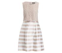 Kleid mit Spitzenbesatz - beige