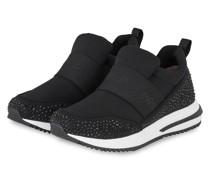 Sneaker mit Schmucksteinbesatz - 900 BLACK
