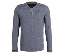 Henley-Shirt - blau