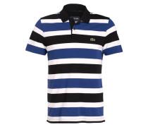 Piqué-Poloshirt - weiss/ schwarz/ blau