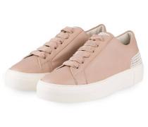 Plateau-Sneaker mit Perlenbesatz - rosé
