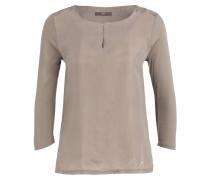 Shirt CATHY im Materialmix - khaki