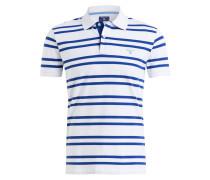 Piqué-Poloshirt - weiss/ blau