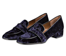 Samt-Loafer - navy