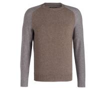 Pullover mit Yakwolle-Anteil - grau/ braun
