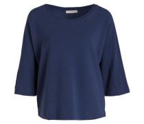 Sweatshirt mit 3/4-Arm - blau
