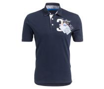 Piqué-Poloshirt Regular-Fit - blau