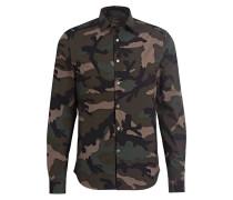 Hemd - khaki/ grün/ schwarz