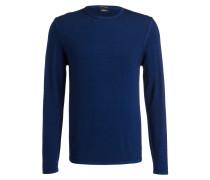 Schurwoll-Pullover STUART - blau
