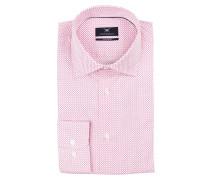 Hemd Modern-Fit - weiss/ pink kariert