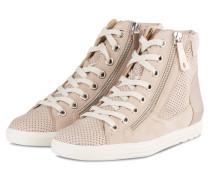 Hightop-Sneaker - sand metallic
