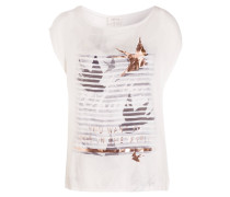 T-Shirt - wollweiss/ grau