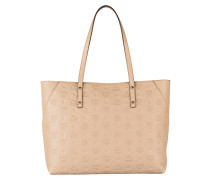 Shopper KLARA MONOGRAMMED MEDIUM - beige
