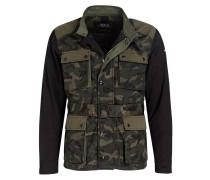Fieldjacket - grün/ schwarz/ beige