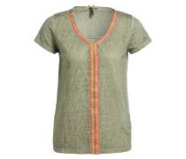T-Shirt LAGOON - khaki/ pink