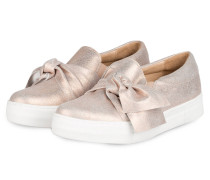 Slip-on-Sneaker - rosa metallic