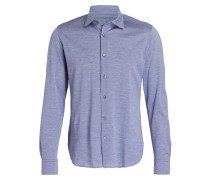 Jerseyhemd Slim-Fit - blau