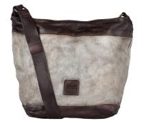 Hobo-Bag - silber/ braun