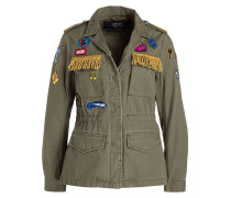 Fieldjacket mit Patches - gelb