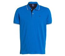 Piqué-Poloshirt Easy-Fit - blau