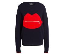 Pullover - navy/ rot