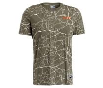 T-Shirt RECORD - oliv/ ecru