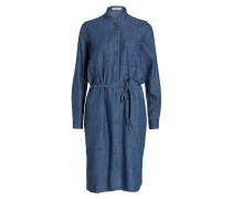 Blusenkleid - blau meliert