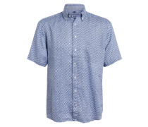 Halbarm-Hemd Slim Fit aus Leinen