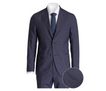 Anzug Slim-Fit - blau kariert