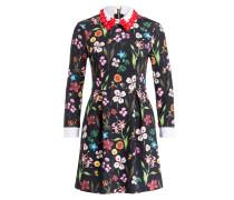Kleid TILLENA - schwarz/ blau/ rot
