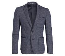 Sakko Slim-Fit - blau/ weiss meliert