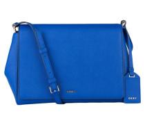 Saffiano-Umhängetasche - blau