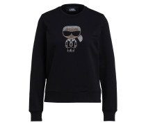 Sweatshirt IKONIK mit Schmucksteinbesatz