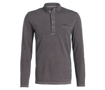Jersey-Poloshirt - grau