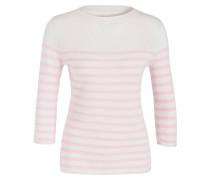 Cashmere-Pullover - creme/rosa