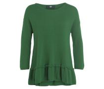 Pullover mit Schößchen - grün