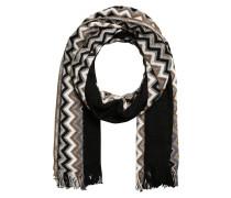Schal - schwarz/ beige