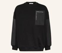 Oversized-Sweatshirt im Materialmix