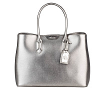 Saffiano-Handtasche TATE - silber