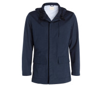Jacke aus wasserfestem Material - blau