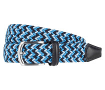 Flechtgürtel - blau multi