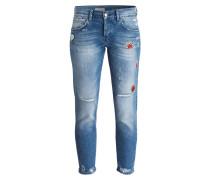 Boyfriend 7/8-Jeans - blau