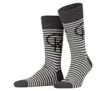 4er-Pack Socken - grau/ schwarz