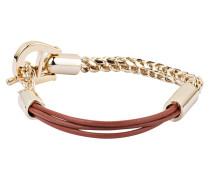 Armband - cognac/ gold